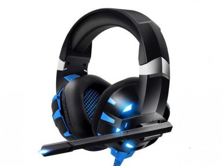 Casti Gaming Onikuma K2 PRO, Microfon Noise Cancelling, Zero Ear Pressure, Multi Platform -Negru/ Albastru [4]