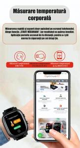 Ceas inteligent pentru adulti 4G cu localizare prin GPS, apelare audio, video, termometru, puls, tensiune, camera, buton SOS, H10 negru [6]