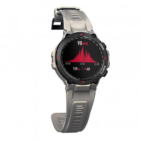 Ceas inteligent (smartwatch) K27 ecran cu touch color HD, autonomie marita, moduri sport, pedometru, puls, notificari, gri [2]
