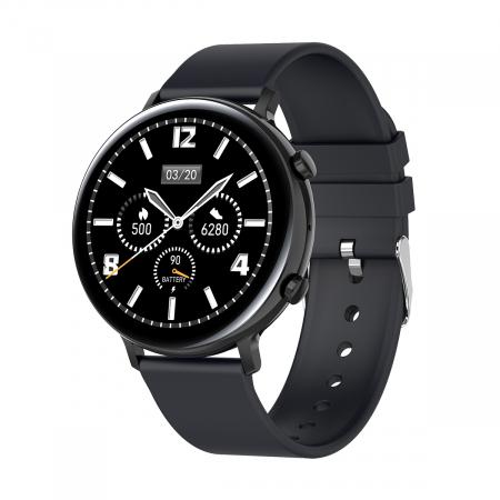Ceas inteligent (smartwatch) SW07 cu apelare, difuzor si microfon incorporat, IP68, ecran cu touch 1.28 inch color, moduri sport, pedometru, puls, ECG, notificari, negru [0]