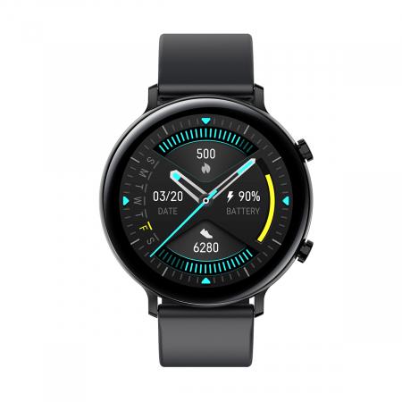 Ceas inteligent (smartwatch) SW07 cu apelare, difuzor si microfon incorporat, IP68, ecran cu touch 1.28 inch color, moduri sport, pedometru, puls, ECG, notificari, negru [1]