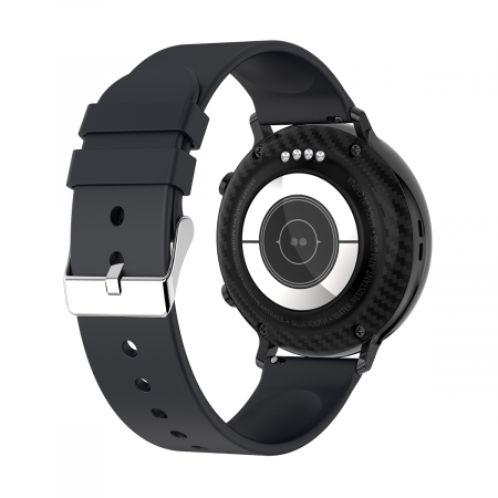 Ceas inteligent (smartwatch) SW07 cu apelare, difuzor si microfon incorporat, IP68, ecran cu touch 1.28 inch color, moduri sport, pedometru, puls, ECG, notificari, negru [2]