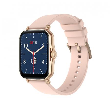 Ceas inteligent (smartwatch) Y20, IP67, ecran cu touch 1.7 inch color, moduri sport, pedometru, puls, notificari, auriu [0]
