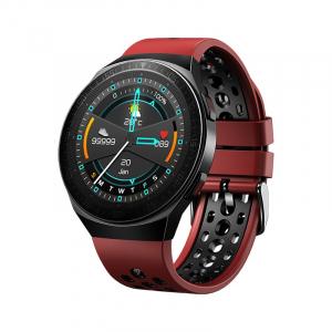 Ceas inteligent (smartwatch) MT-3 cu difuzor si microfon incorporat, ecran cu touch 1.28 inch color, moduri sport, pedometru, puls, notificari, red [0]