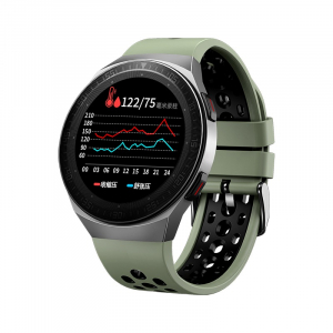 Ceas inteligent (smartwatch) MT-3 cu difuzor si microfon incorporat, ecran cu touch 1.28 inch color, moduri sport, pedometru, puls, notificari, green [0]