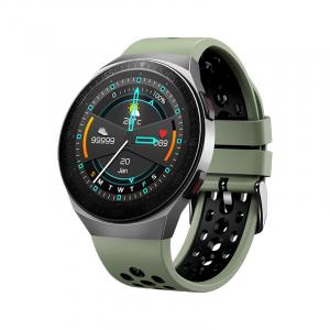 Ceas inteligent (smartwatch) MT-3 cu difuzor si microfon incorporat, ecran cu touch 1.28 inch color, moduri sport, pedometru, puls, notificari, green [1]