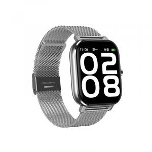 Ceas inteligent (smartwatch) Optimus AT DT-35 cu difuzor si microfon incorporat, curea metalica, ecran cu touch 1.54 inch color HD, moduri sport, pedometru, puls, notificari, metal grey [1]
