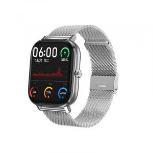 Ceas inteligent (smartwatch) Optimus AT DT-35 cu difuzor si microfon incorporat, curea metalica, ecran cu touch 1.54 inch color HD, moduri sport, pedometru, puls, notificari, metal grey [0]