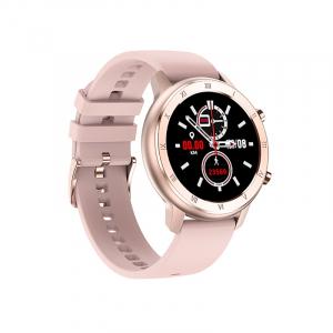 Ceas inteligent (smartwatch) Optimus AT DT-89 ecran cu touch 1.2 inch color HD, moduri sport, pedometru, puls, notificari, roz [0]