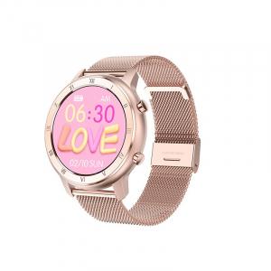 Ceas inteligent (smartwatch) Optimus AT DT-89 ecran cu touch 1.2 inch color HD, moduri sport, pedometru, puls, notificari, metal pink [1]
