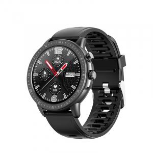 Ceas inteligent (smartwatch) Optimus AT S02 ecran cu touch 1.3 inch color HD, moduri sport, pedometru, puls, notificari, black