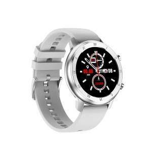Ceas inteligent (smartwatch) Optimus AT DT-89 ecran cu touch 1.2 inch color HD, moduri sport, pedometru, puls, notificari, gri