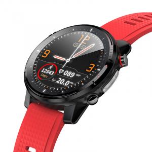 Ceas inteligent (smartwatch) sport Optimus AT L15 ecran cu touch 1.3 inch color HD, Sp02, puls, 10 moduri sport, notificari, red [1]