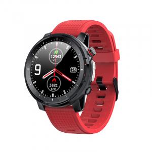 Ceas inteligent (smartwatch) sport Optimus AT L15 ecran cu touch 1.3 inch color HD, Sp02, puls, 10 moduri sport, notificari, red [0]