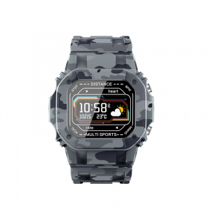Ceas inteligent (smartwatch) cu design retro Optimus AT I2 ecran 0.96 inch color puls, moduri sport, notificari, army [1]