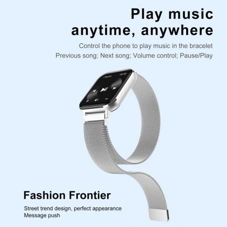 Ceas inteligent (smartwatch) Optimus AT DTX ecran cu touch 1.78 inch color HD, ECG, Sp02, puls, moduri sport, notificari, curea metalica silver [1]