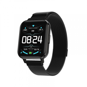 Ceas inteligent (smartwatch) Optimus AT DTX ecran cu touch 1.78 inch color HD, ECG, Sp02, puls, moduri sport, notificari, curea metalica black [0]