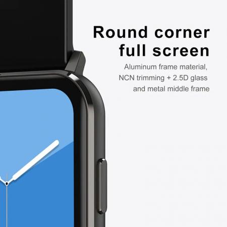 Ceas inteligent (smartwatch) Optimus AT DTX ecran cu touch 1.78 inch color HD, ECG, Sp02, puls, moduri sport, notificari, silicon black [5]