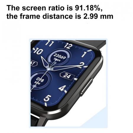 Ceas inteligent (smartwatch) Optimus AT DTX ecran cu touch 1.78 inch color HD, ECG, Sp02, puls, moduri sport, notificari, silicon black [6]