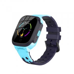 Ceas inteligent (smartwatch) pentru copii Optimus AT 8T cu localizare prin GPS, ecran 1.3 inch, apelare video, camera, buton SOS, albastru [0]