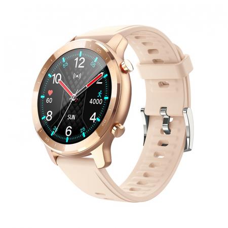 Ceas inteligent (smartwatch) Optimus AT S30 ecran cu touch color HD, moduri sport, pedometru, puls, notificari, auriu [0]