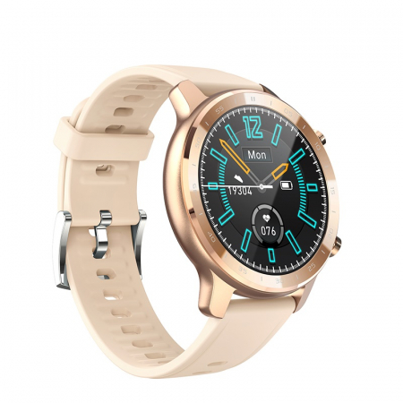 Ceas inteligent (smartwatch) Optimus AT S30 ecran cu touch color HD, moduri sport, pedometru, puls, notificari, auriu [1]