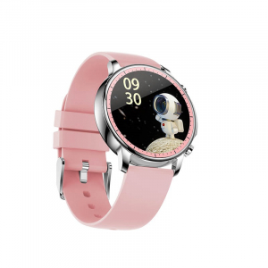 Ceas inteligent (smartwatch) Optimus AT V23 ecran cu touch 1.3 inch color HD, moduri sport, pedometru, puls, notificari, roz [1]