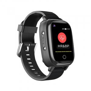 Ceas inteligent pentru adulti 4G cu localizare prin GPS, apelare audio, video, termometru, puls, tensiune, camera, buton SOS, H10 negru [1]