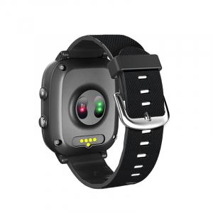 Ceas inteligent pentru adulti 4G cu localizare prin GPS, apelare audio, video, termometru, puls, tensiune, camera, buton SOS, H10 negru [2]