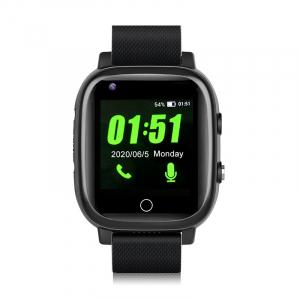 Ceas inteligent pentru adulti 4G cu localizare prin GPS, apelare audio, video, termometru, puls, tensiune, camera, buton SOS, H10 negru [3]