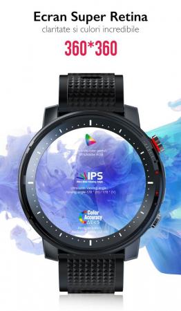 Ceas inteligent (smartwatch) sport Optimus AT L15 ecran cu touch 1.3 inch color HD, Sp02, puls, 10 moduri sport, notificari, black [5]