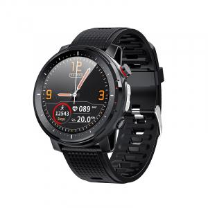 Ceas inteligent (smartwatch) sport Optimus AT L15 ecran cu touch 1.3 inch color HD, Sp02, puls, 10 moduri sport, notificari, black [0]
