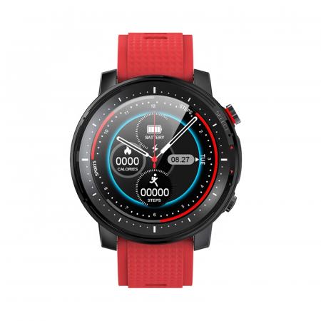 Ceas inteligent (smartwatch) sport Optimus AT L15 ecran cu touch 1.3 inch color HD, Sp02, puls, 10 moduri sport, notificari, red [7]