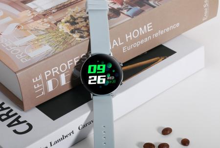 Ceas inteligent (smartwatch) SW07 cu apelare, difuzor si microfon incorporat, IP68, ecran cu touch 1.28 inch color, moduri sport, pedometru, puls, ECG, notificari, gri [6]