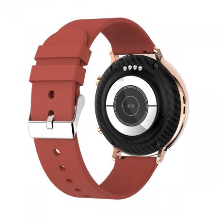 Ceas inteligent (smartwatch) SW07 cu apelare, difuzor si microfon incorporat, IP68, ecran cu touch 1.28 inch color, moduri sport, pedometru, puls, ECG, notificari, rosu [3]