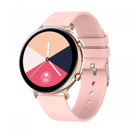 Ceas inteligent (smartwatch) SW07 cu apelare, difuzor si microfon incorporat, IP68, ecran cu touch 1.28 inch color, moduri sport, pedometru, puls, ECG, notificari, auriu [0]