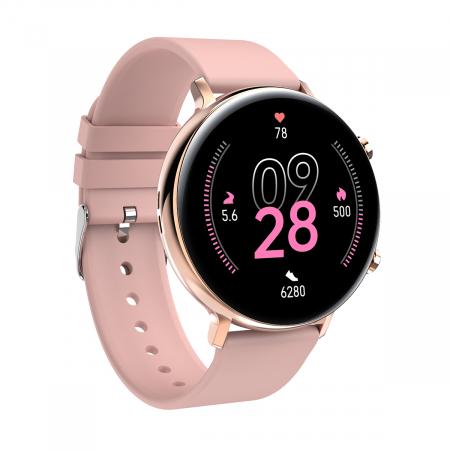 Ceas inteligent (smartwatch) SW07 cu apelare, difuzor si microfon incorporat, IP68, ecran cu touch 1.28 inch color, moduri sport, pedometru, puls, ECG, notificari, auriu [2]
