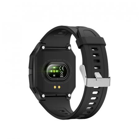 Ceas inteligent sport (smartwatch) FT10, rezistent la apa IP68, ecran 1.3 inch, functii multiple, negru [1]
