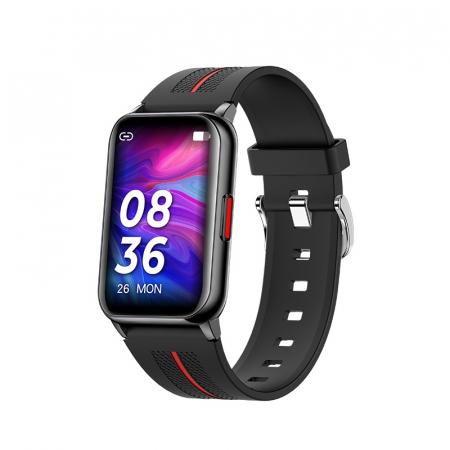 Ceas inteligent (smartwatch) H76, IP68, ecran curbat de 1.57 inch, moduri sport, pedometru, puls, notificari, negru [0]