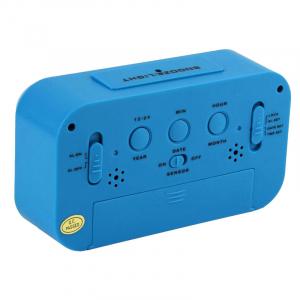 Ceas multifunctional cu cifre mari, Optimus AT 3143 termometru, alarma, snooze, baterii / priza, alb [2]
