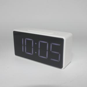 Ceas multifunctional cu design minimalist, model 8039 termometru, alarma, snooze, baterii / priza, alb [2]