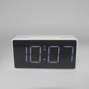 Ceas multifunctional cu design minimalist, model 8039 termometru, alarma, snooze, baterii / priza, alb [1]