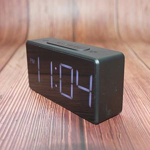 Ceas multifunctional cu design minimalist, model 8039 termometru, alarma, snooze, baterii / priza, negru [1]