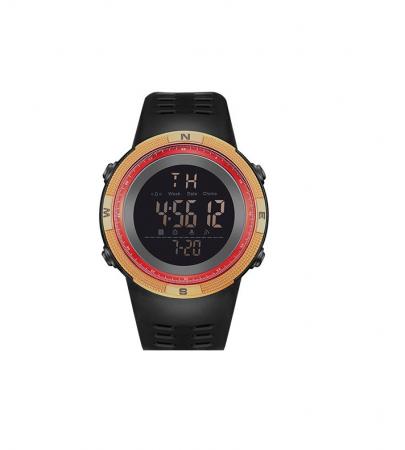 Ceas sport cu alarma SK75, rosu/auriu