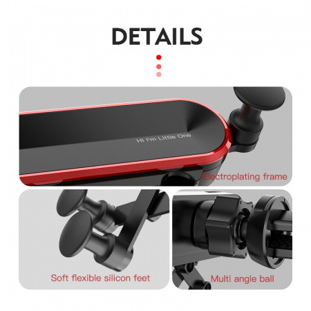 Suport auto pentru telefon tip gravity, S25 [3]