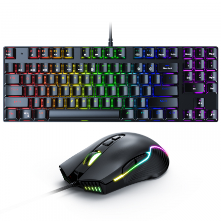 Set gaming profesional tastatura G26 si mouse CW905 Onikuma RGB [0]