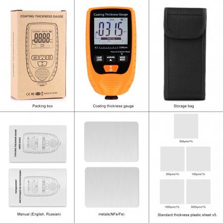 Tester profesional strat de vopsea - interval 0-1500 µm, precizie 3%+2µm, Optimus AT 998 [1]