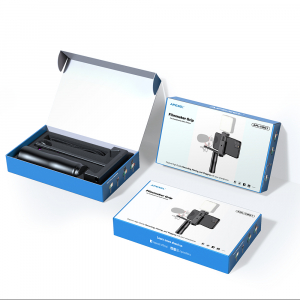 Maner Grip profesional din aluminiu cu suport telefon, pentru vlogging, cu prindere 1/4, negru [4]