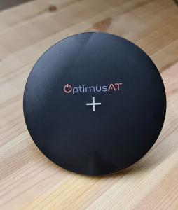 Incarcator rapid ultraslim wireless Optimus AT 61 15W Qi (inductie), type-C, negru