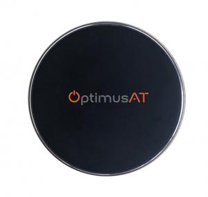 Incarcator rapid ultraslim wireless Optimus AT BC09 10W Qi (inductie), black [0]